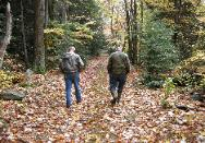Appalachian Forest Consultants picture of woods walk with landowner. Consulting Foresters available in PA, WV, OH, NY.