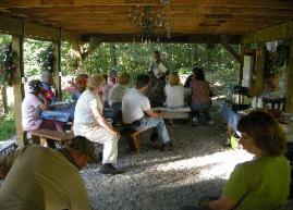 Consulting Forester Larry Powell has been managing PA forests for over 40 years. He welcomes the chance to share his wealth of knowledge with forest landowners each year at conferences and field tours like this one at his home property.