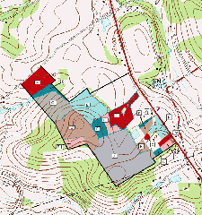 This property map contains small management units within the property. Appalachian Forest Consultants recently completed a forest management plan for this 150 acre PA forest.